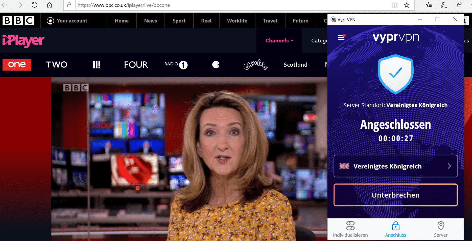 BBC iplayer abroad works!