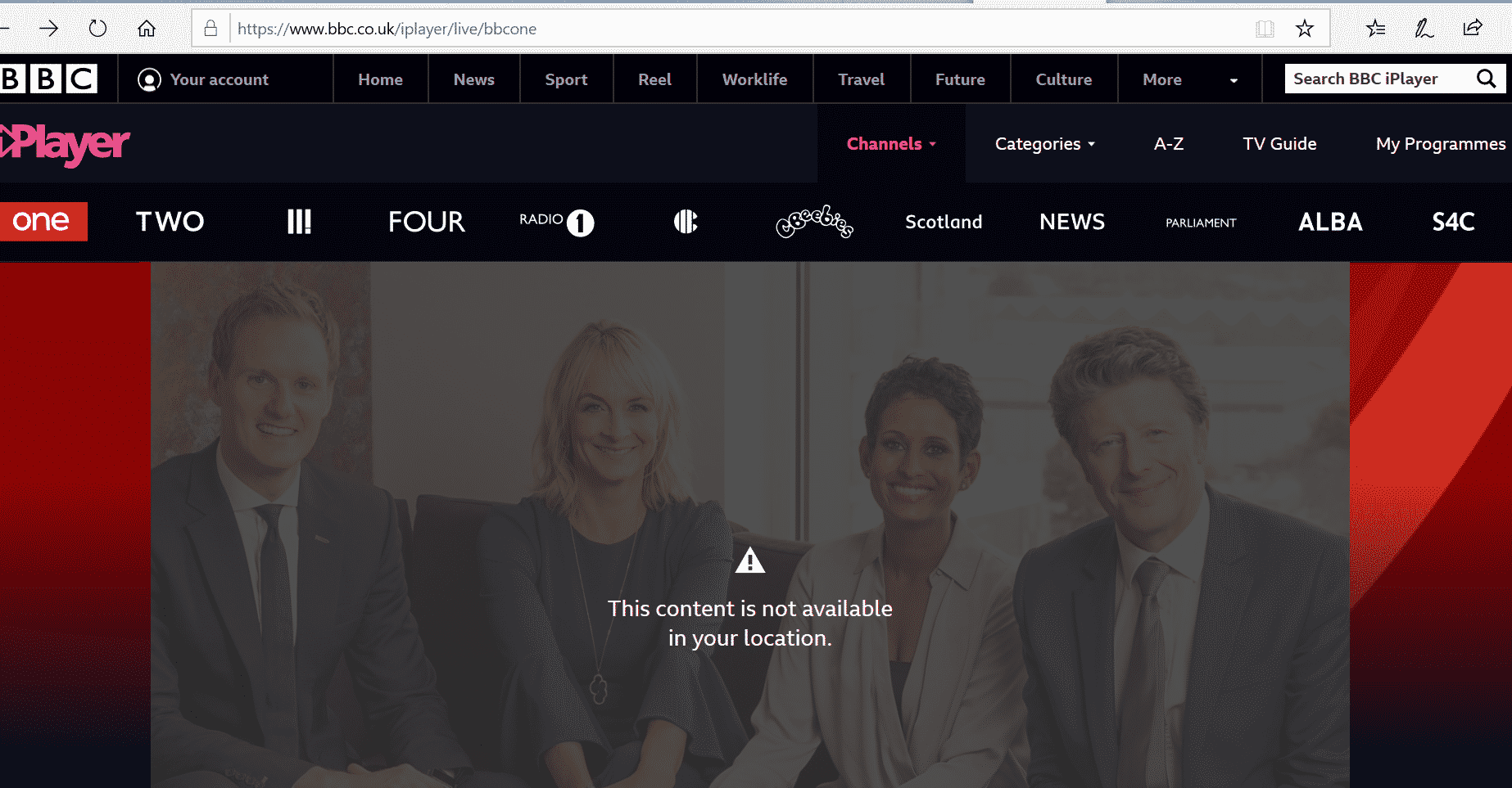 BBC iplayer abroad - error
