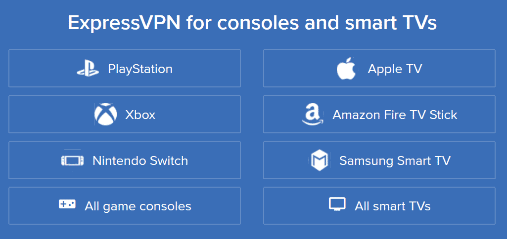 ExpressVPN streaming, consoles